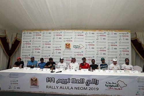المؤتمر الصحفي رالي العُلا نيوم في السعودية يعجّ بالأسماء الكبيرة