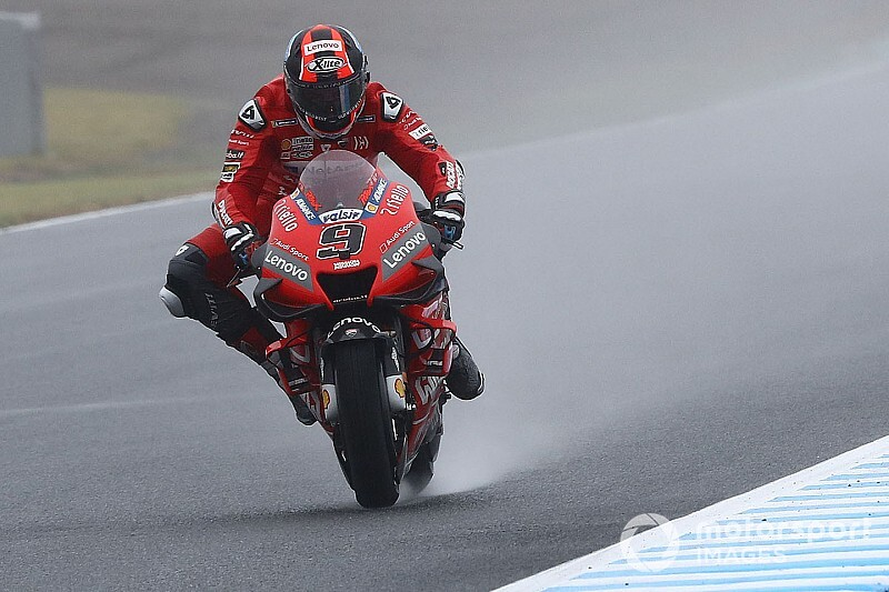 MotoGP in Japan 2019: Petrucci mit Regenbestzeit vor Marquez