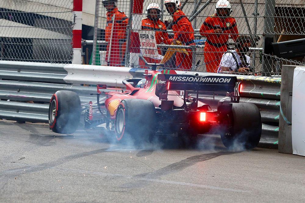 Pole y accidente de Leclerc en Mónaco; Sainz y Alonso, cara y cruz