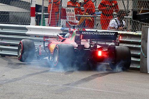 Ferrari pense que la panne de Leclerc est bien liée à son crash