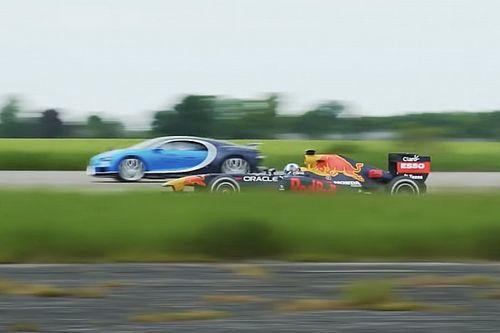 Comment accélère une Bugatti Chiron face à une F1?