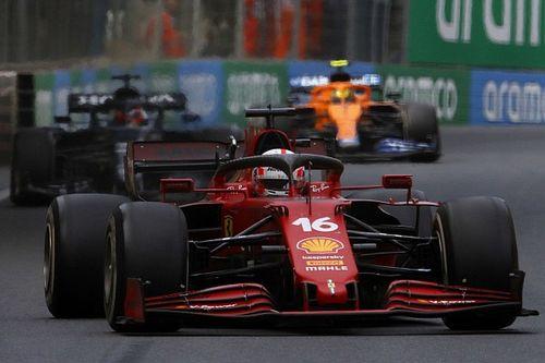 Leclerc y cómo perdió posición con Hamilton por una rama en Bakú
