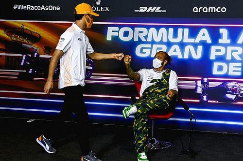 """F1: Riccardo vê Hamilton """"calando críticos"""" com vitórias no começo de 2021"""