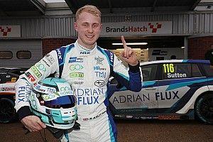 Brands Hatch BTCC: Sutton takes pole on damp track