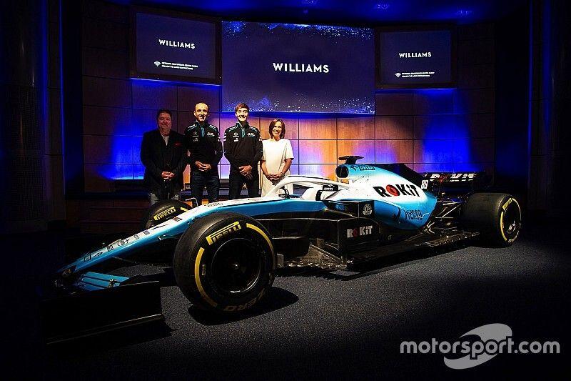 La Williams ha svelato la nuova livrea biancazzurra della FW42 di Kubica e Russell