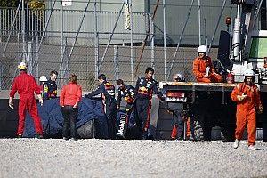 Zware crash voor Gasly met RB15 in Barcelona