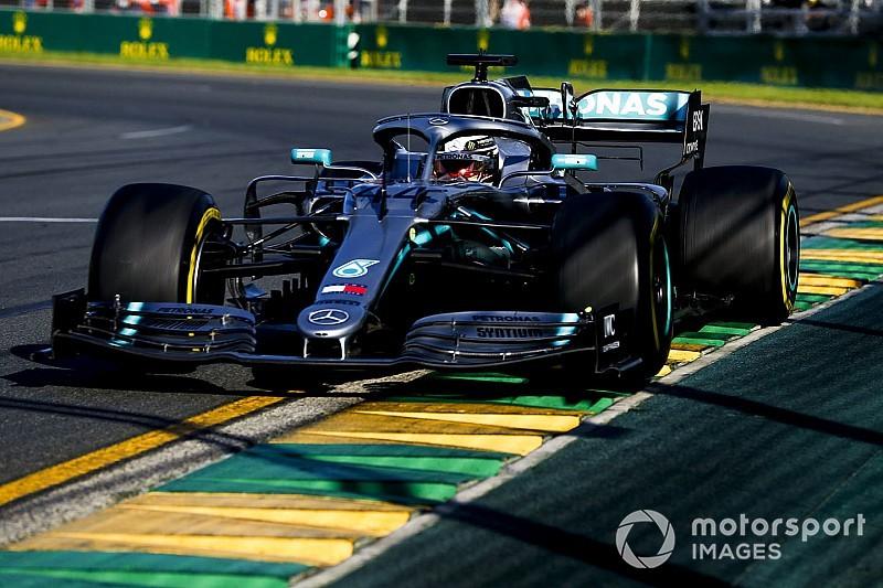 Hamilton aveva il fondo danneggiato della sua Mercedes già dai primi giri