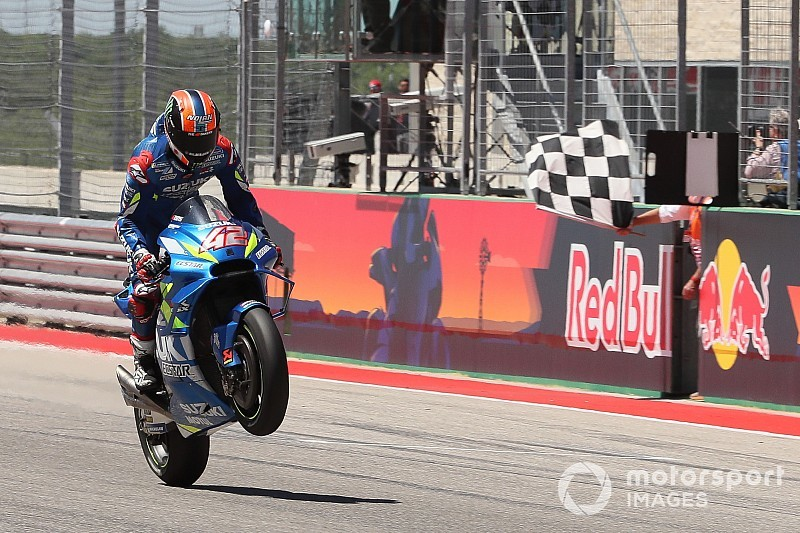 Austin MotoGP: Rins takes first win as Marquez crashes
