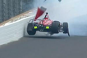 IndyCar Breaking news Byrd thinks wind gust caused Davison shunt