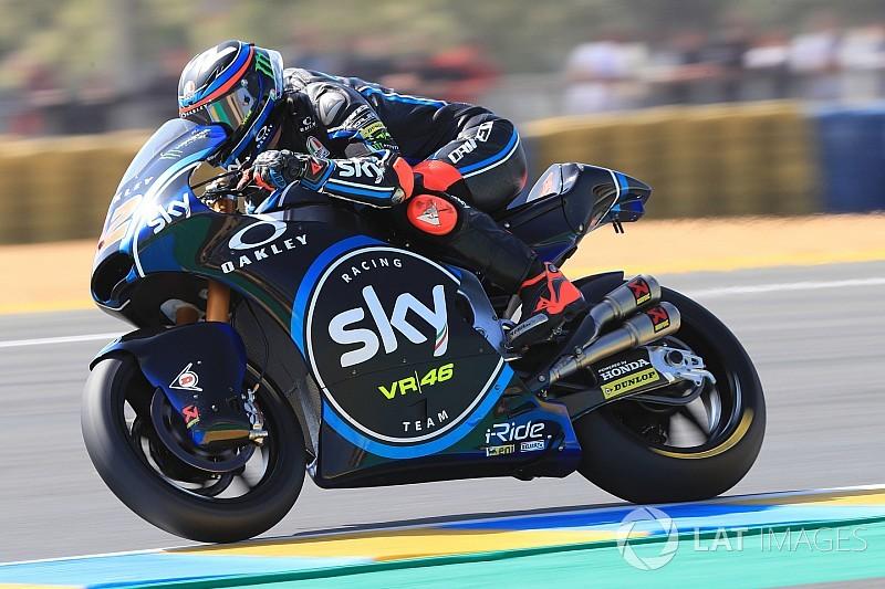 Moto2 Le Mans:Bagnaia pakt eerste pole uit Moto2-carrière