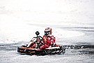 Karting on snow with Kimi Raikkonen