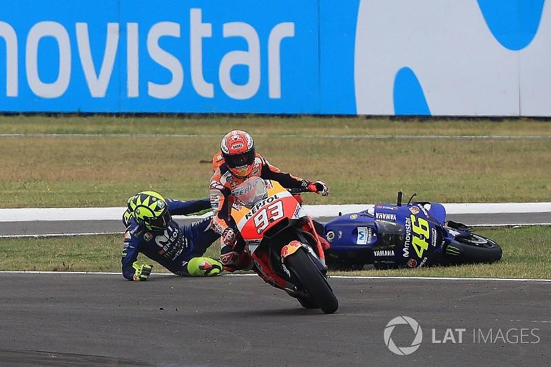 Galería: así fue la acción entre Rossi y Márquez en Argentina