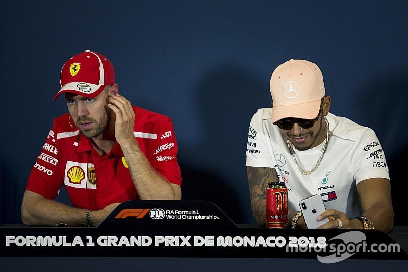 """Hamilton: """"¿Ser compañero de Vettel? No pasará, me tiene vetado"""""""