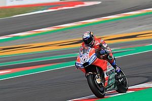 MotoGP Verslag vrije training Dovizioso aan kop in opwarmsessie GP van Catalonië