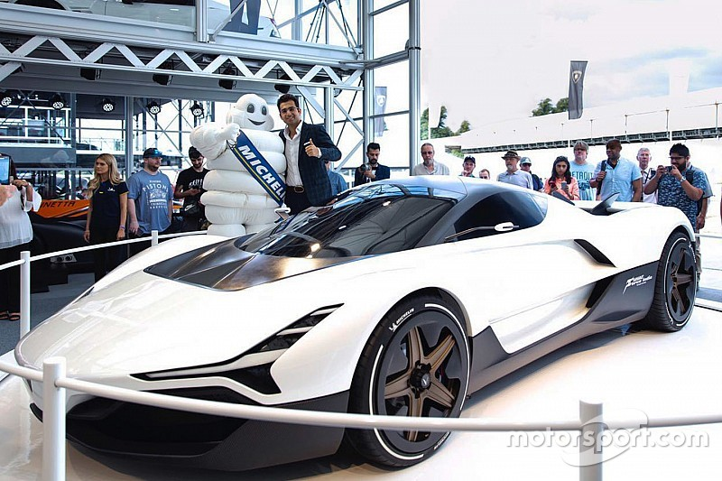 India's first hypercar Vazirani Shul showcased at Goodwood