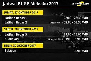 Jadwal lengkap F1 GP Meksiko 2017