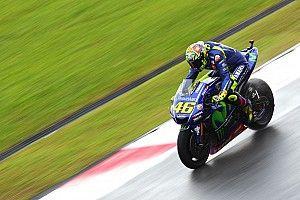 Pas d'amélioration sous la pluie pour Rossi