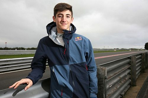 Red Bull-junior Jack Doohan racet in 2019 in Euroformula Open