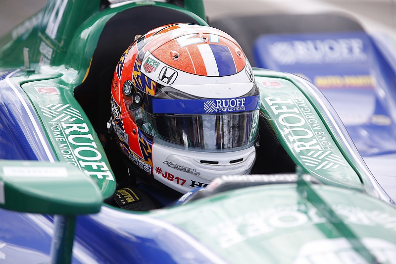 IndyCar Detroit: Alex Rossi im Regen auf Pole für Rennen 2