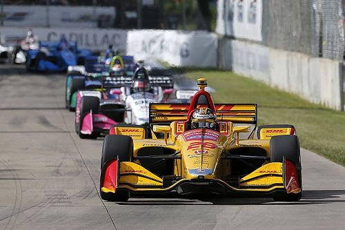 IndyCar Detroit: Hunter-Reay wint na fout Rossi