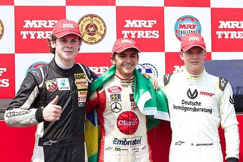 Chennai MRF Challenge: Fittipaldi wins, Schumacher on podium