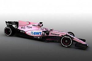 【F1】フォースインディア、カラーリング変更。ピンク色に一新
