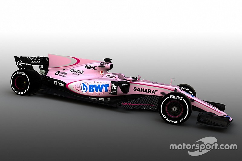 Машина Ф1 Force India стала рожевою