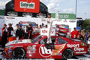 NASCAR XFINITY Race report Hamlin uses last-lap crossover move to take Darlington Xfinity win