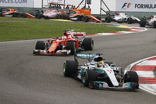 """Hamilton says """"real race"""" began when Vettel reached second"""