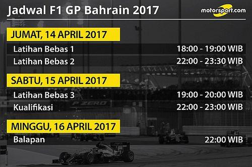 Jadwal lengkap F1 GP Bahrain 2017