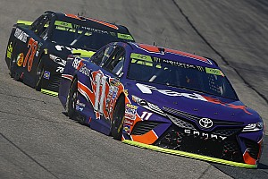 NASCAR Cup Interview Denny Hamlin offers his theory on why Truex is so fast