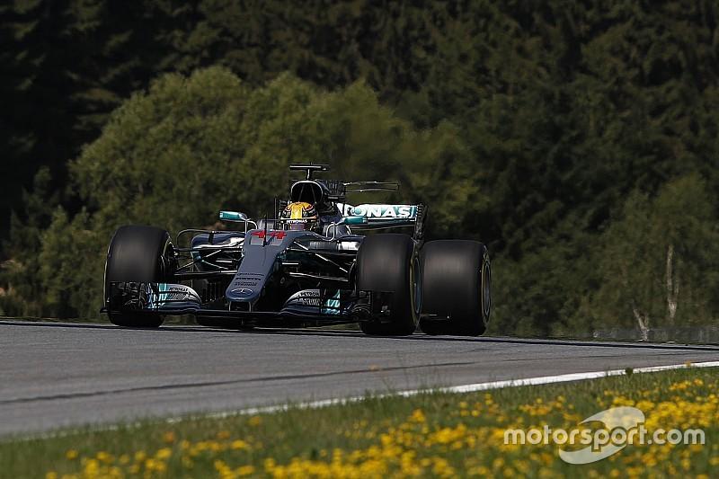 Hamilton manda en los Libres 1 de Austria y McLaren sorprende
