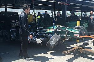 IndyCar Noticias de última hora Hildebrand choca en el test de Gateway