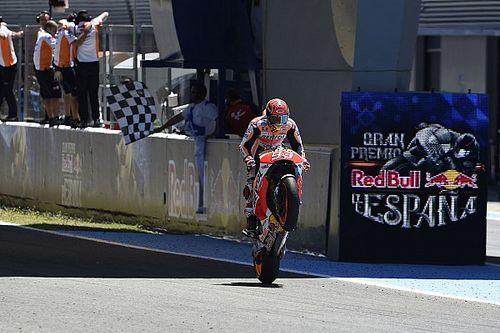 Marquez vreesde voorband in Jerez en liet Pedrosa gaan