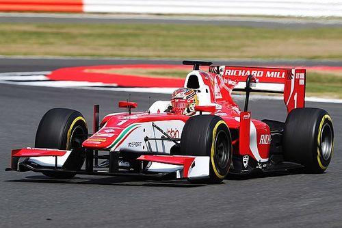 Silverstone F2: Leclerc wins despite car smoke, lost mirror