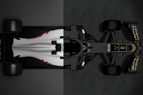 Compare os carros da Haas de 2018 e 2019