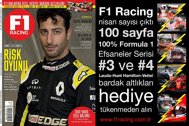 F1 Racing Nisan sayısı çıktı
