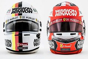 GALERÍA: los cascos de los pilotos de Ferrari