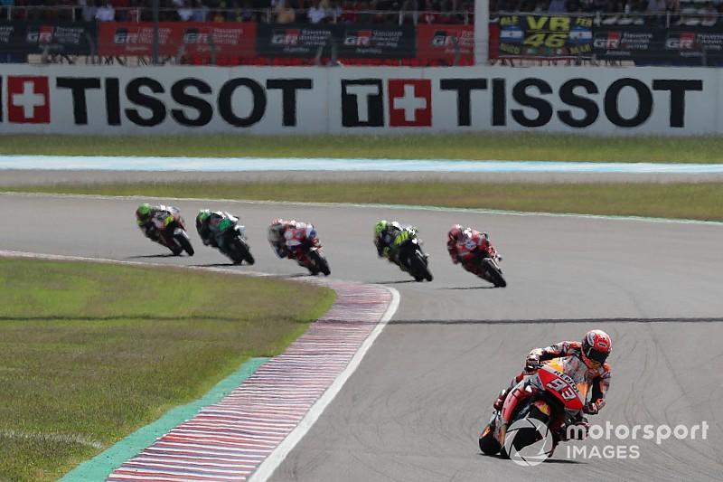 """Rossi se desanima por """"enorme"""" diferença para Márquez na Argentina"""