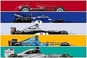 Le monoposto più vincenti della storia della F1