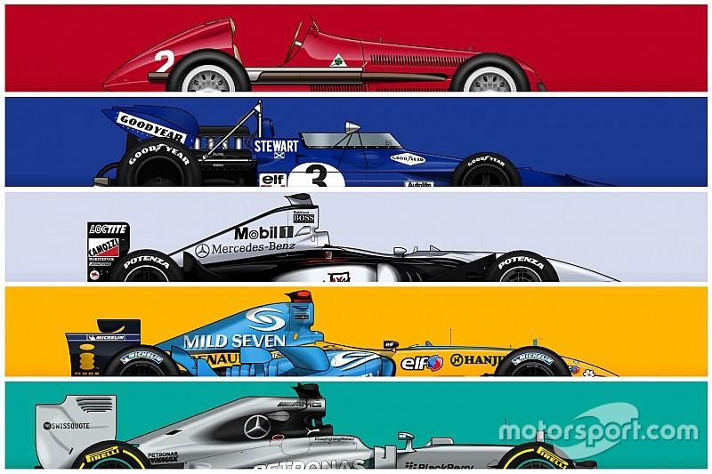 GALERIA: Os carros de mais sucesso na história da F1