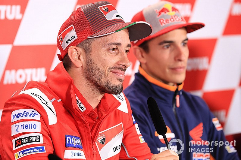 "Dovizioso ""proud"" to have been Marquez's main threat"
