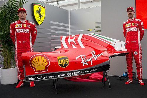 フェラーリ、新カラーを鈴鹿で発表。フィリップモリスの白いロゴが追加