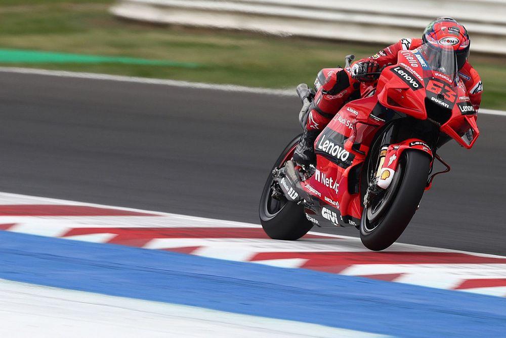 Misano MotoGP: Bagnaia beats Quartararo in FP3, Marquez crashes