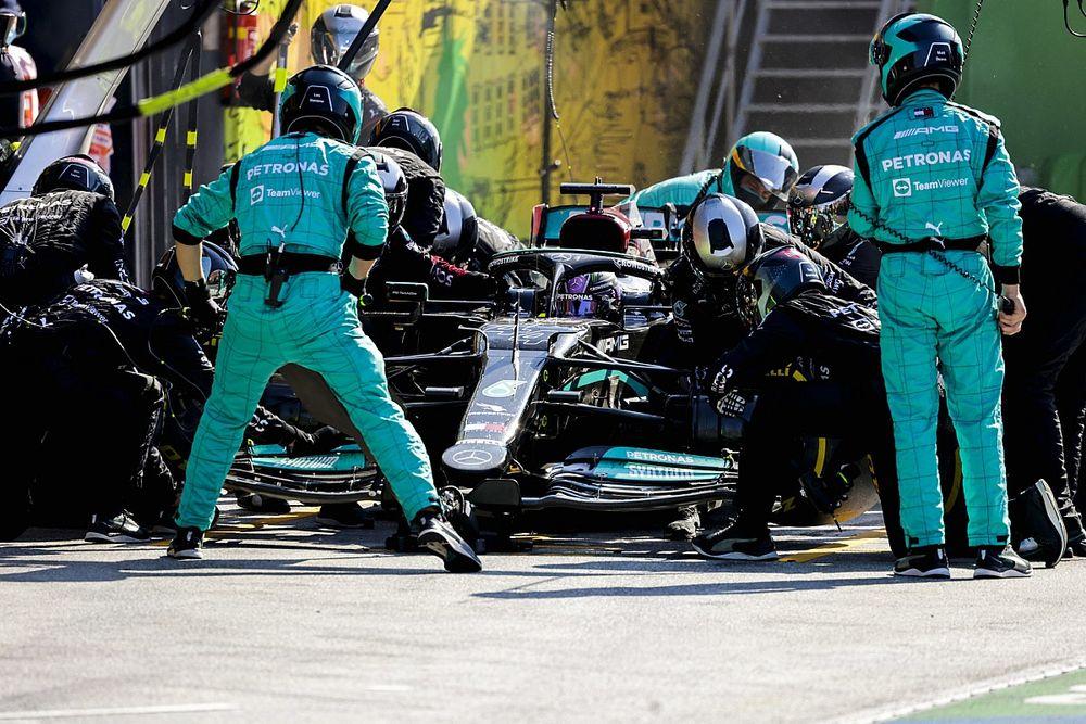 """Mercedes strategisch niet tiptop: """"Tweede stop niet goed getimed"""""""