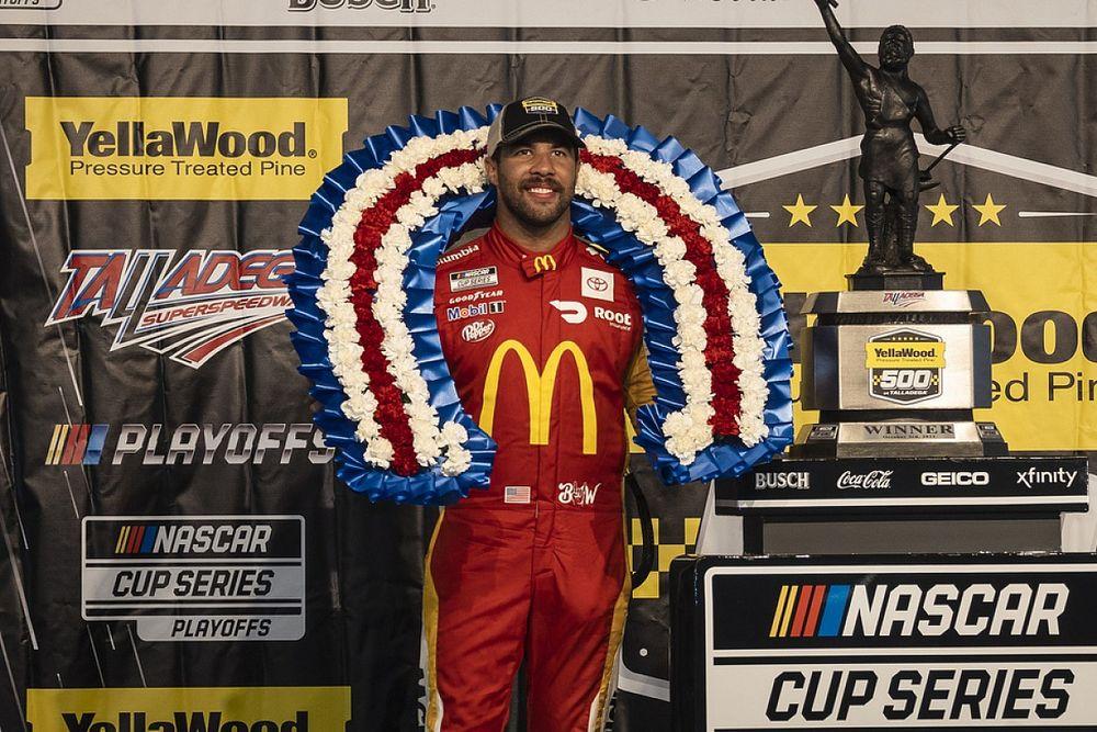 NASCAR Talladega: Bubba Wallace holt Premierensieg bei Abbruchrennen