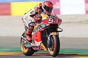 Márquez se lleva la primera práctica en Aragón