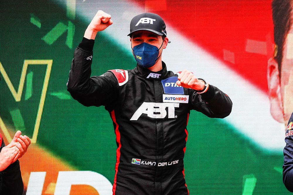 Hockenheim DTM: Van der Linde wins to draw level with Lawson