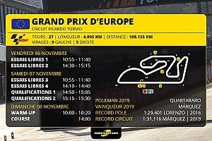 GP d'Europe MotoGP-Programme et guide d'avant-course