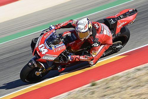 Ducati tuvo un viernes para el olvido en el arranque de Teruel